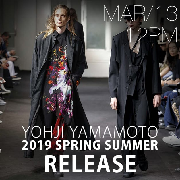 Yohji Yamamoto Release Date Notice 3-13