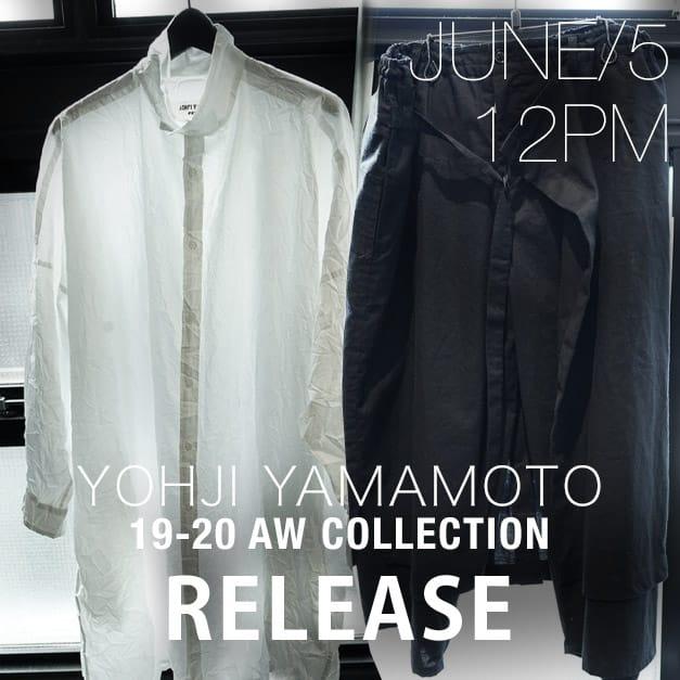 Yohji yamamoto 19-20AW June 5 Release!