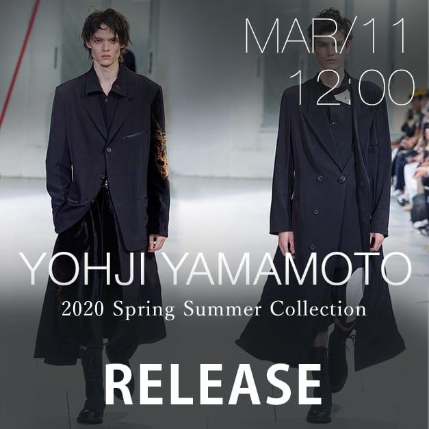 Yohji Yamamoto 2020SS Release Date Notice
