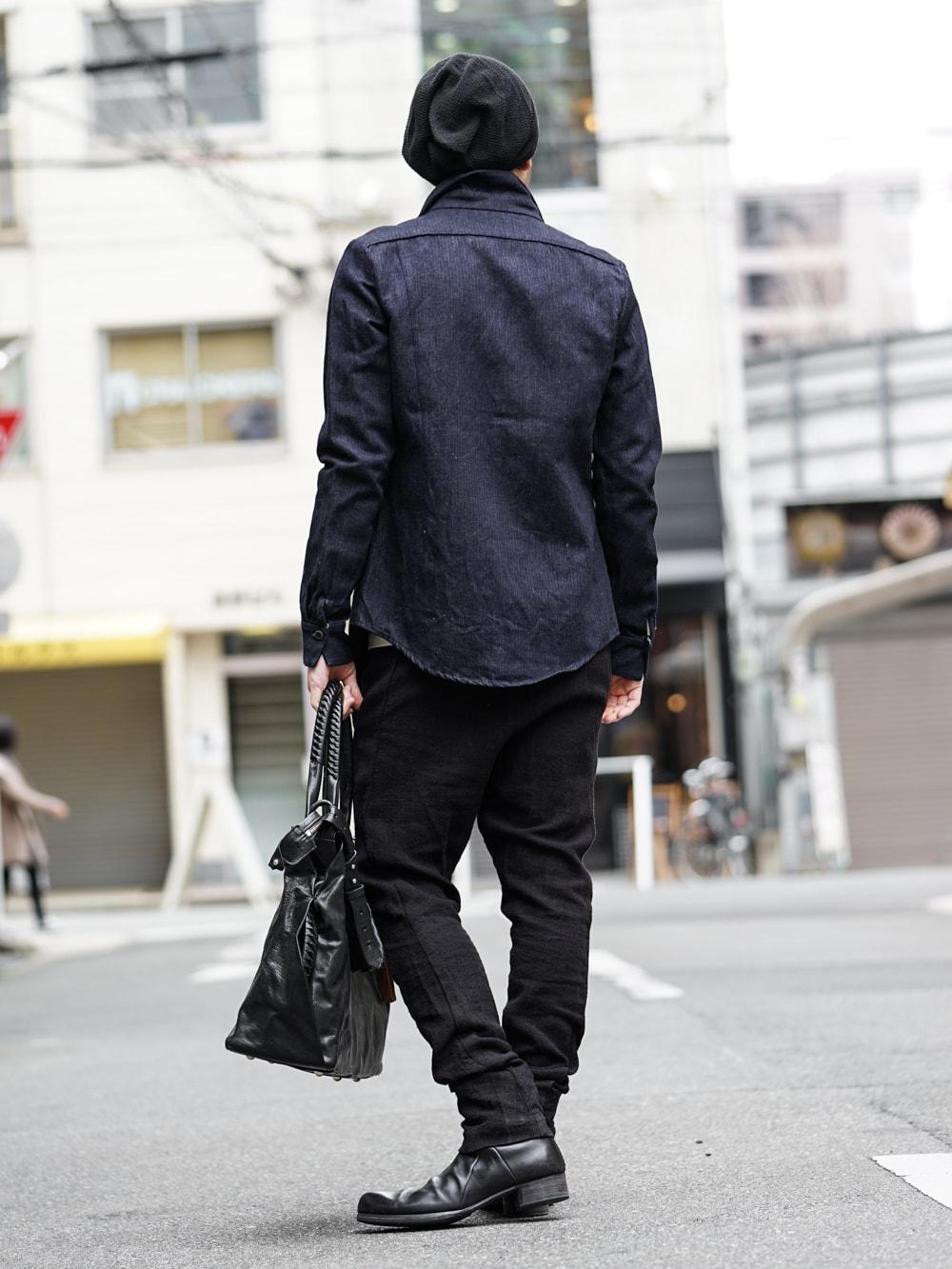 DEVOA Easy Pants Silk / Linen Random Check × individual sentiments Cotton Linen Herringbone Denim  03