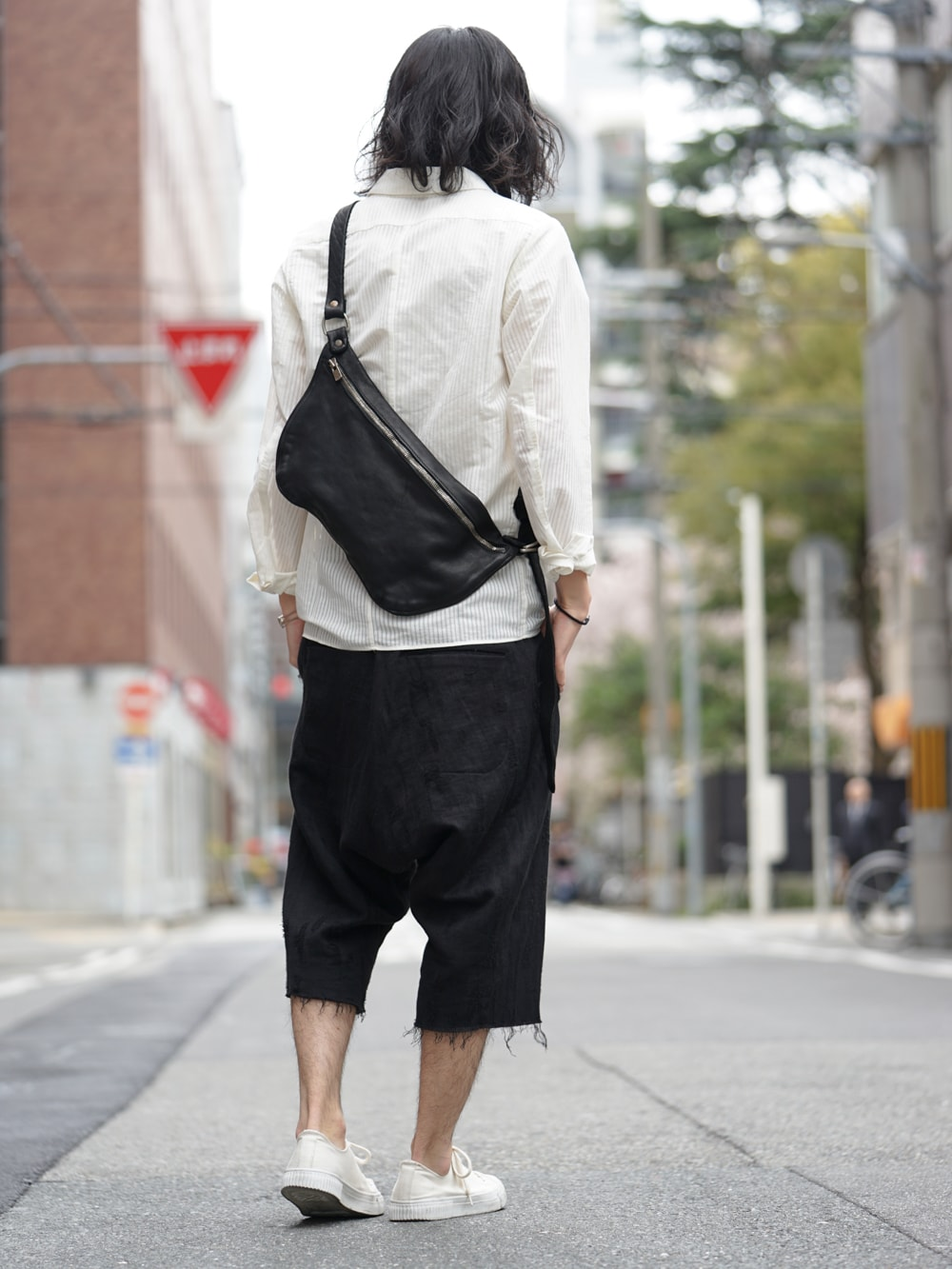 17SS golem Shirt Cardigan × SADDAM TEISSY Hemp x Washi Curved Trousers 02
