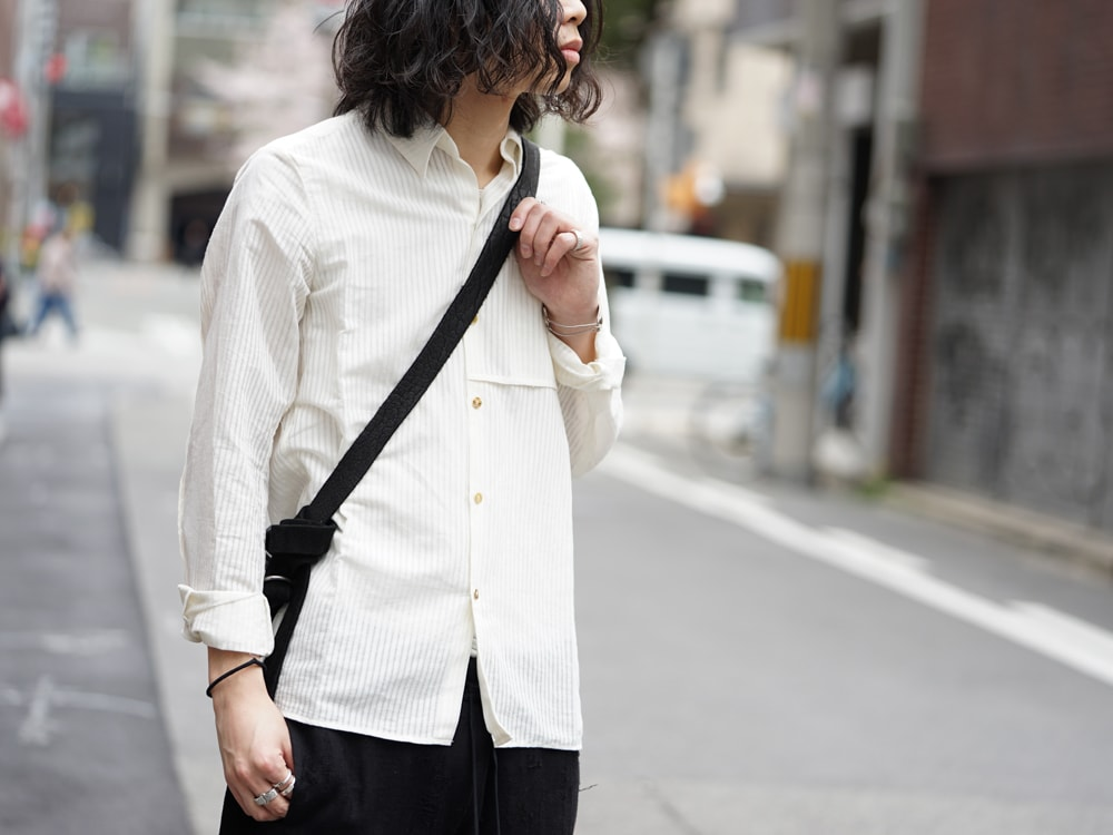 17SS golem Shirt Cardigan × Hemp x Washi Curved Trousers 04