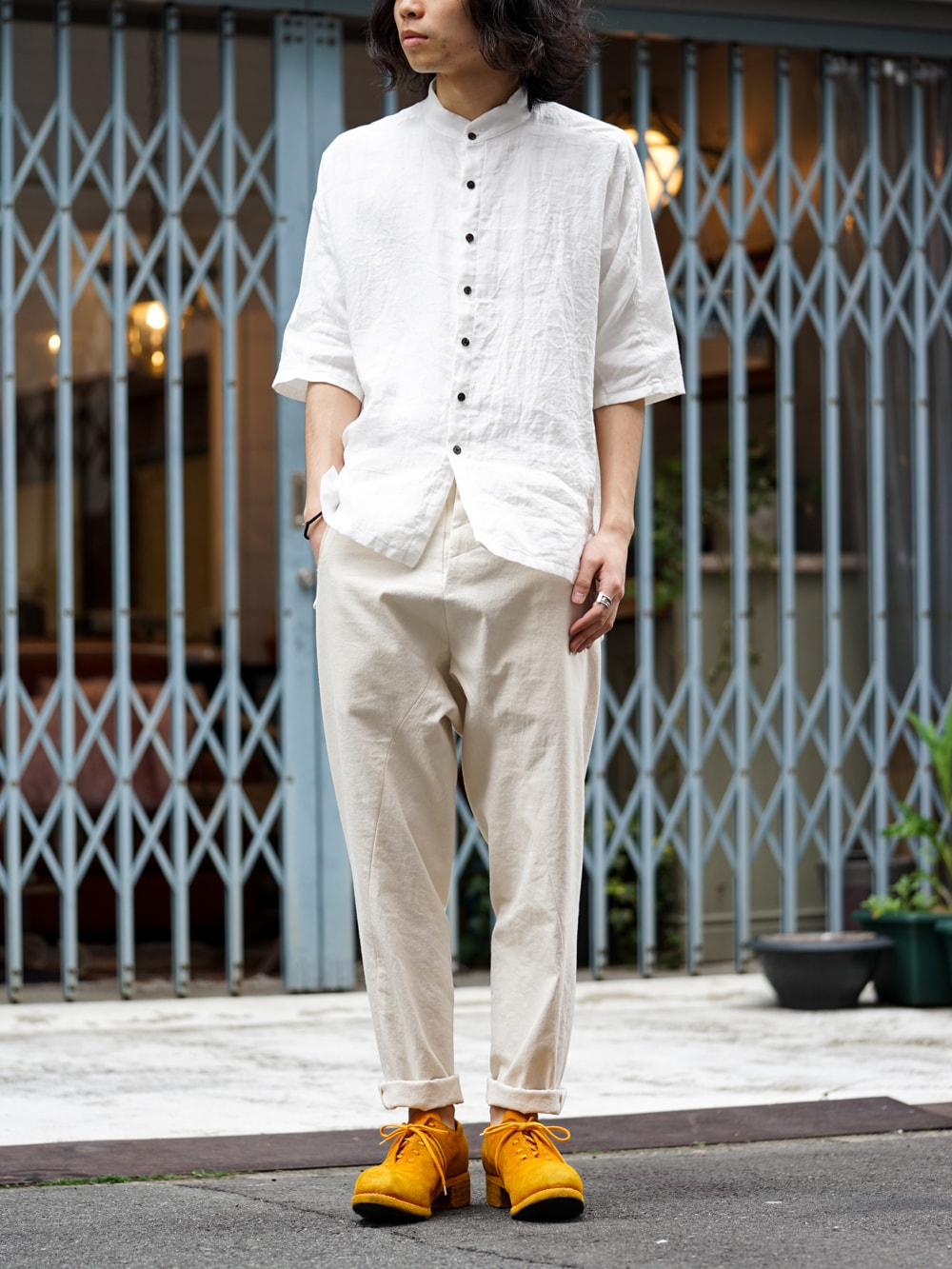 The Viridi-anne × golem × GUIDI BIG Shirt Style 01
