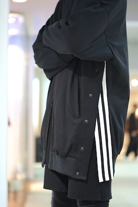 Y3 [ M 3 STP Matt Track Snap Jacket ] Sporty Mix Styling !!!