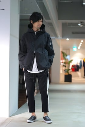 KAZUYUKI KUMAGAI [ C/N Typewriter Washer Hooded Half Coat ]styling!!!