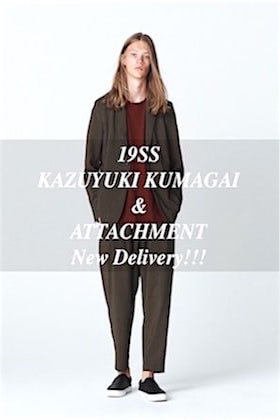 KAZUYUKI KUMAGAI & ATTACHMENT 19SS New Delivery !!!
