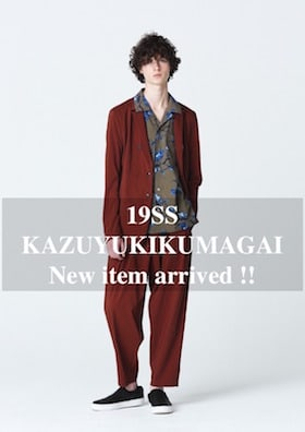 KAZUYUKI KUMAGAI & ATTACHMENT 19SS New Item Arrived !!!