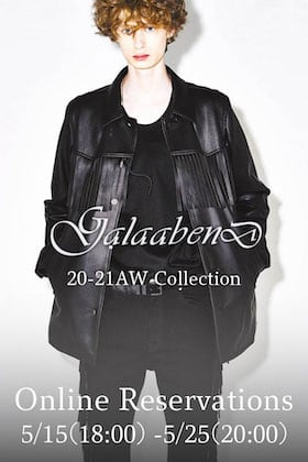 GalaabenD 20-21AW Collection Pre-orders Starting May 15th at 6pm!