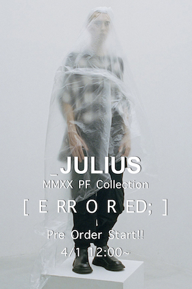 Pre-order now available for JULIUS 20 Pre Fall Collection!