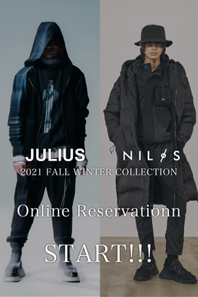 JULIUS & NILøS 21-22 FW Collection online reservation will available on June 1st!!