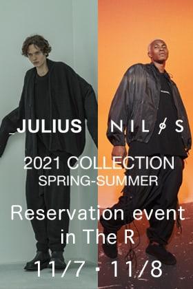 JULIUS & NILøS 2021 SPRING SUMMER Collection Shop Reservation Exhibition!