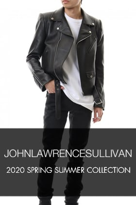 JOHN LAWRENCE SULLIVAN 2020 Spring Summer Collection Delivery Start!!